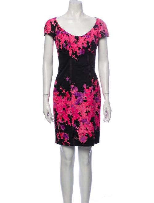 Blumarine Floral Print Mini Dress Black