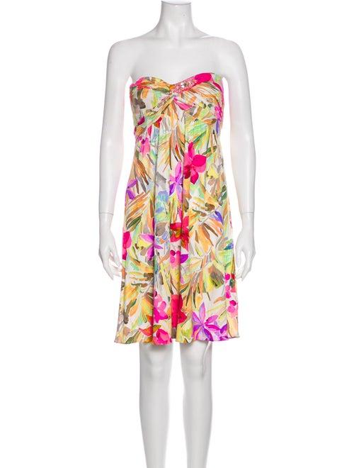 Blumarine Floral Print Mini Dress
