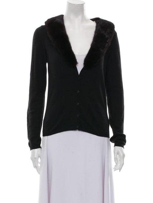 Blumarine V-Neck Sweater Black
