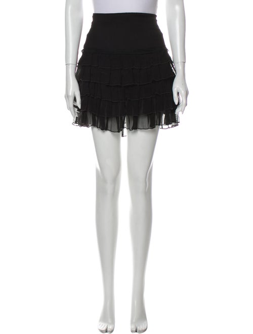 Blumarine Silk Mini Skirt Black