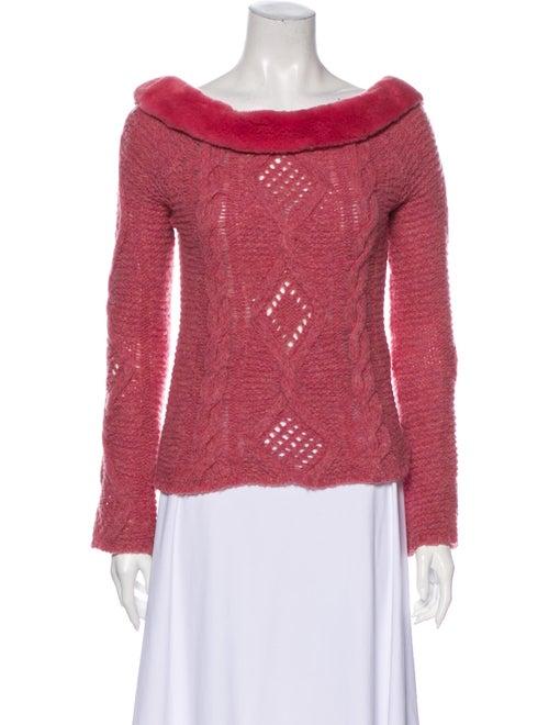 Blumarine Wool Bateau Neckline Sweater Wool
