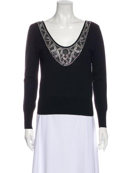 Blumarine Wool Scoop Neck Sweater Wool