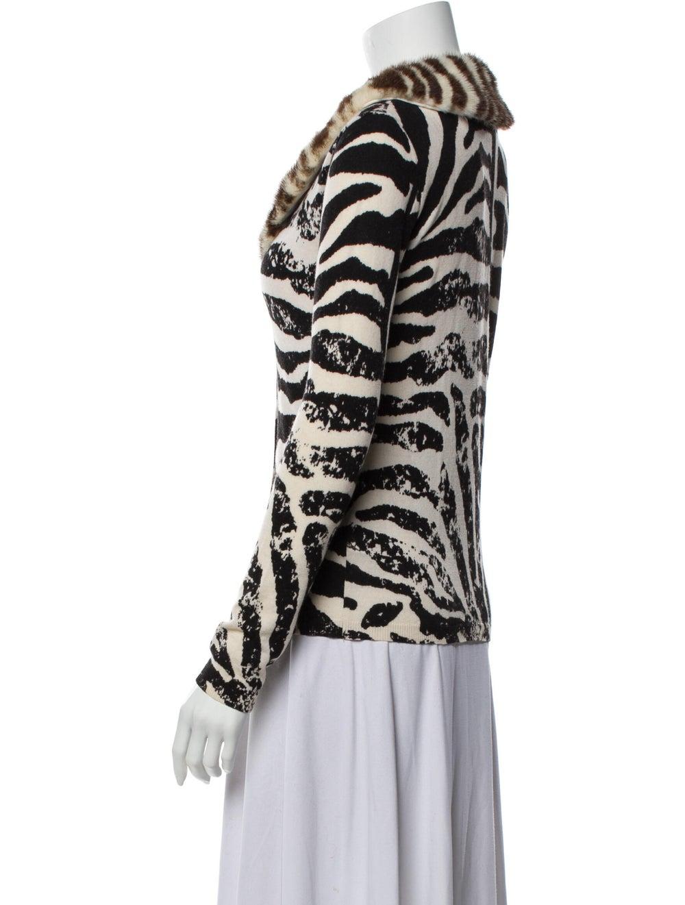 Blumarine Wool Animal Print Sweater Wool - image 2