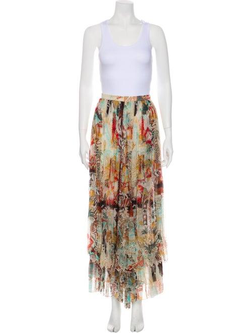 Blumarine Silk Midi Length Skirt