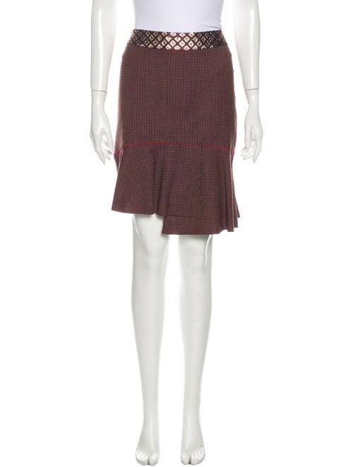 Blumarine Silk Mini Skirt Metallic