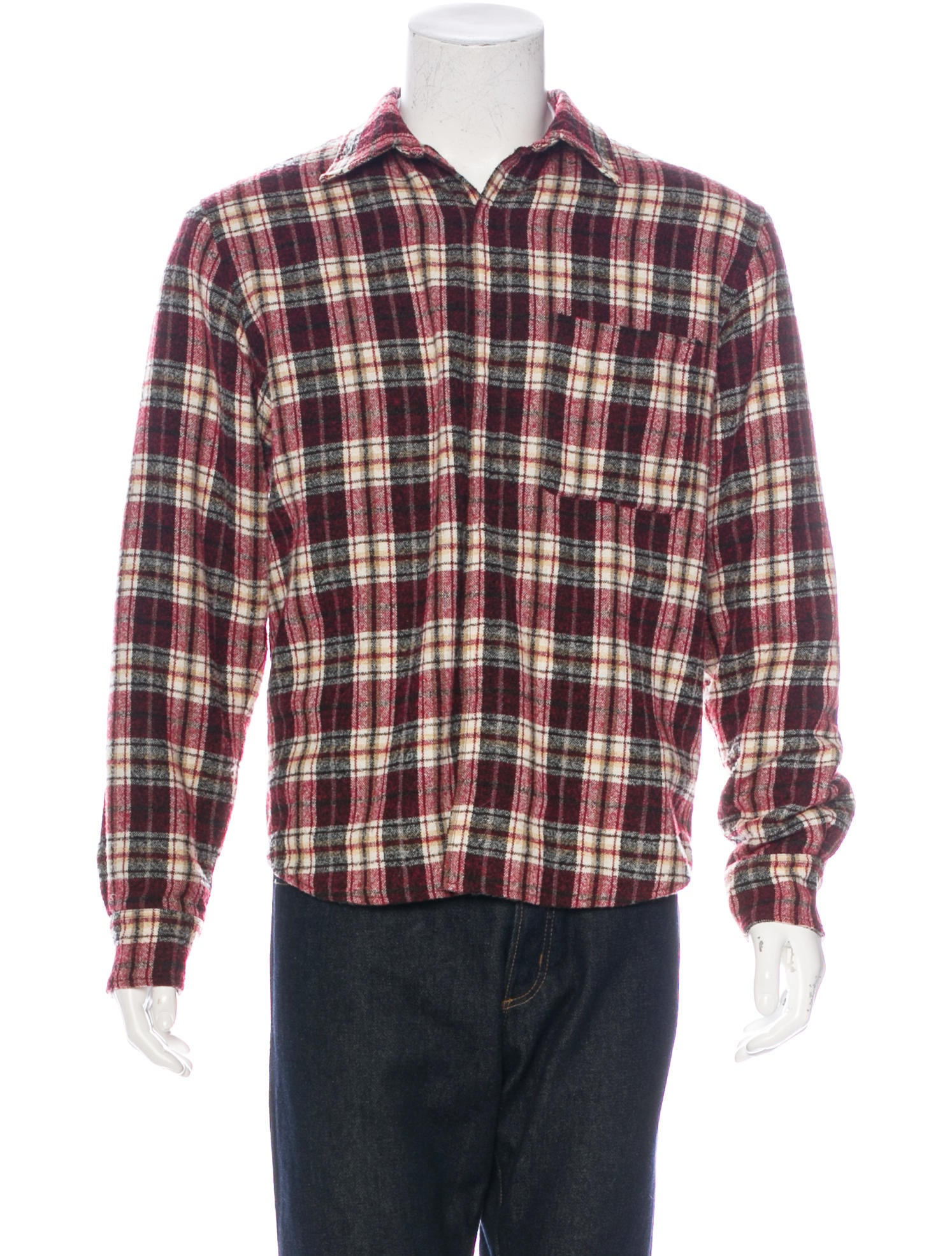Umit benan wool flannel shirt clothing bnn20059 the for Mens wool flannel shirt