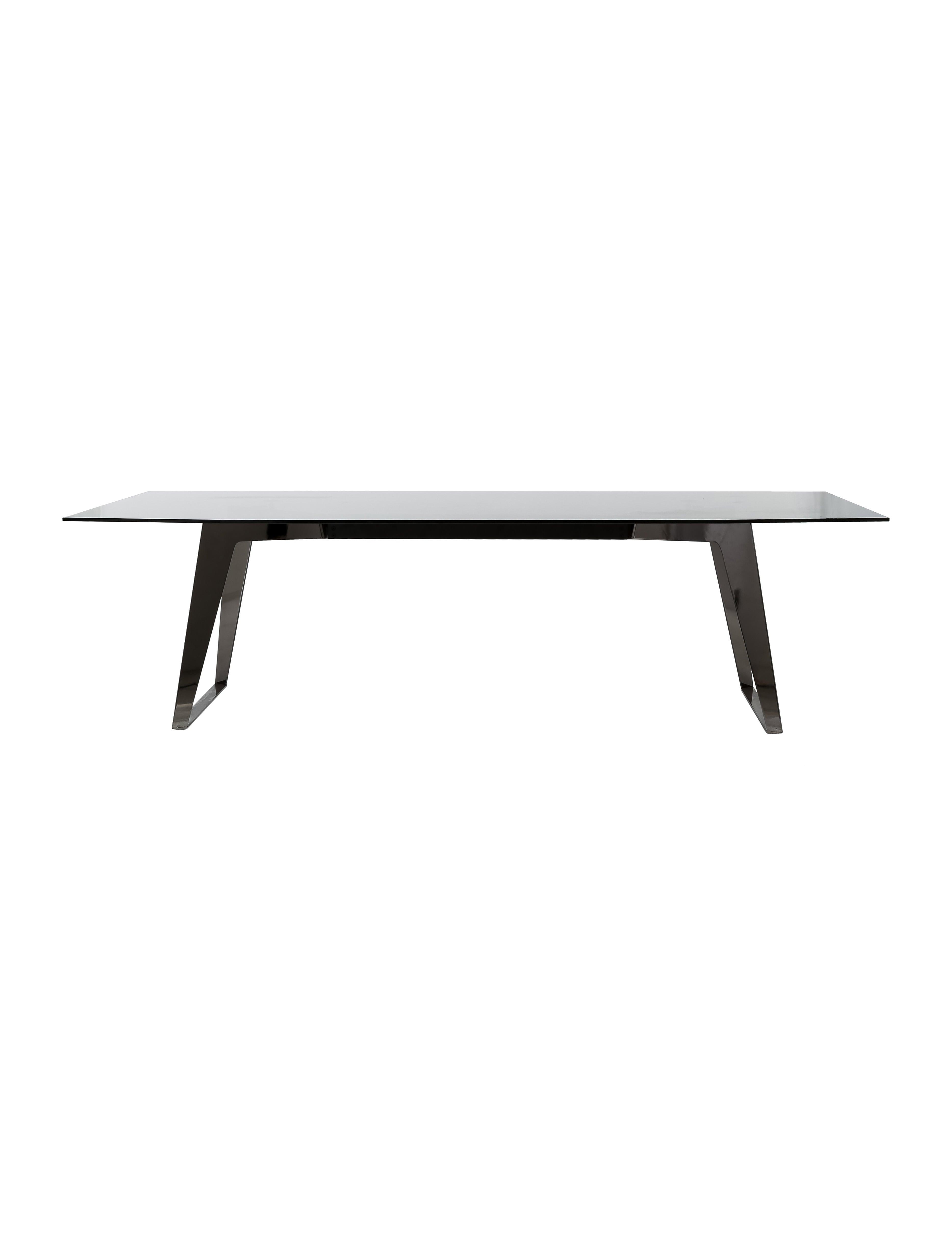 Roche bobois glass dining table furniture bob20029 the realreal - Table basse verre roche bobois ...