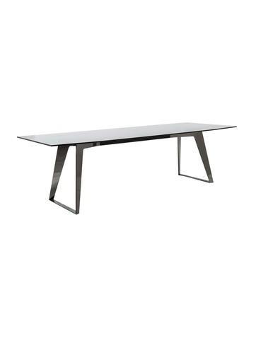 Roche bobois glass dining table furniture bob20029 for Roche bobois tables basses