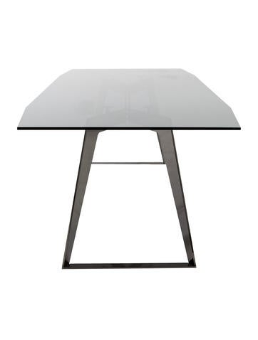 Roche bobois glass dining table furniture bob20029 the realreal for Table ardoise roche bobois