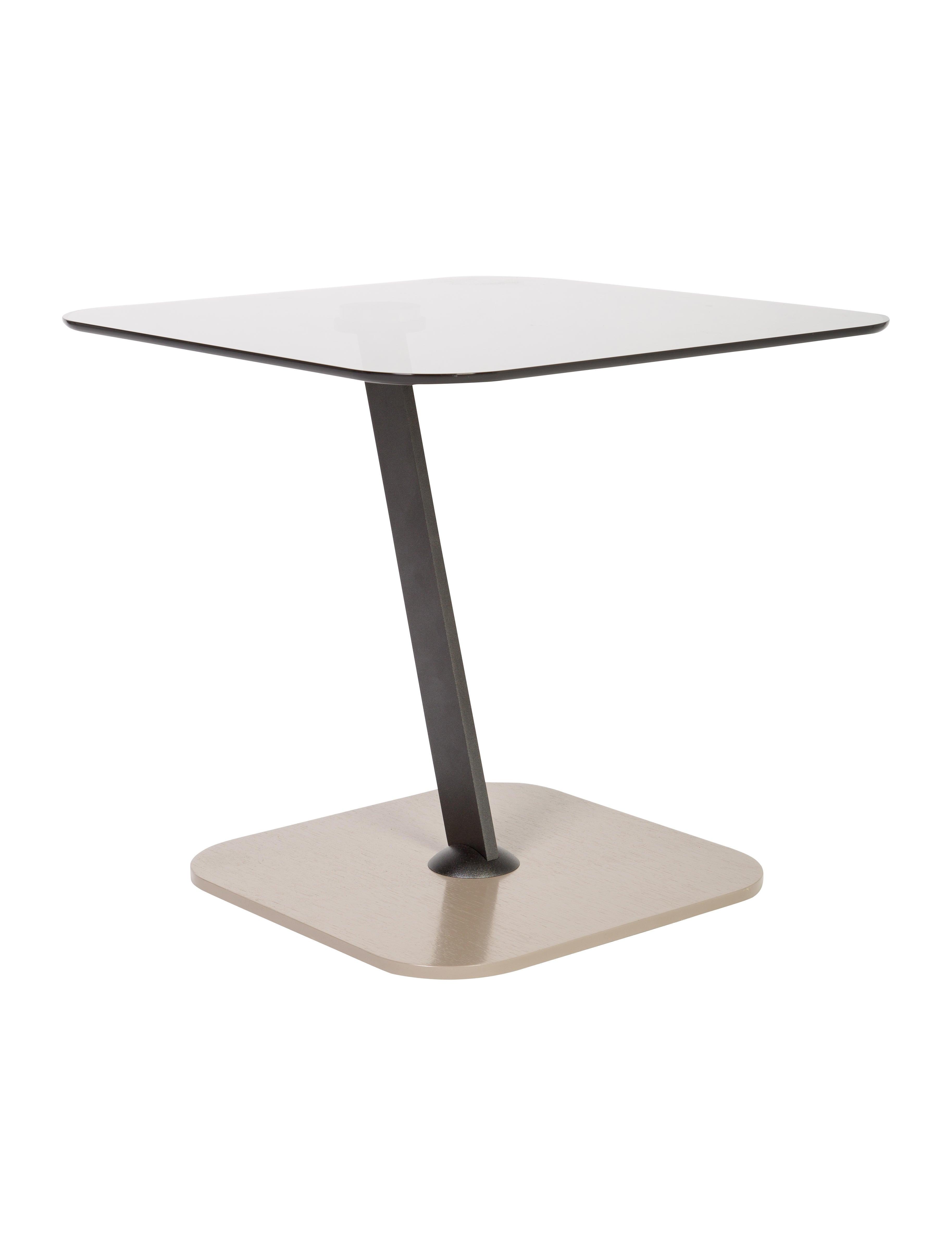 Roche bobois glass pedestal table furniture bob20039 for Table basse ovni roche bobois