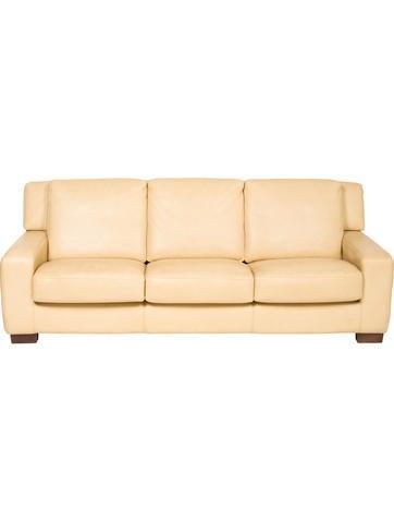 Roche Bobois Leather Sofa None