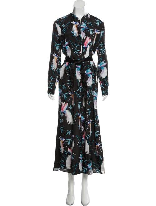 Borgo De Nor Printed Maxi Dress Black