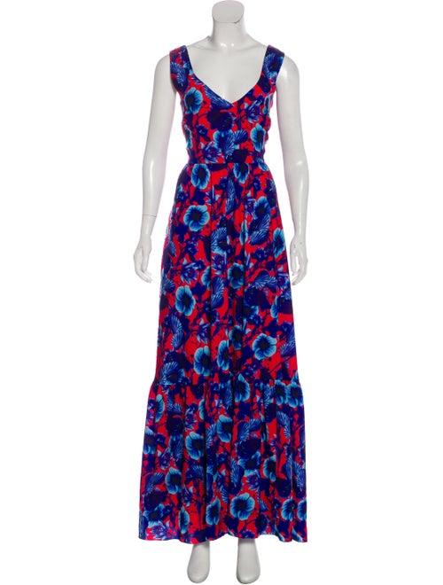 Borgo De Nor Printed Maxi Dress Blue