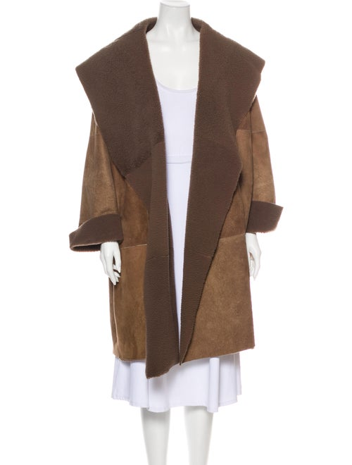 Bottega Veneta Leather Coat Brown