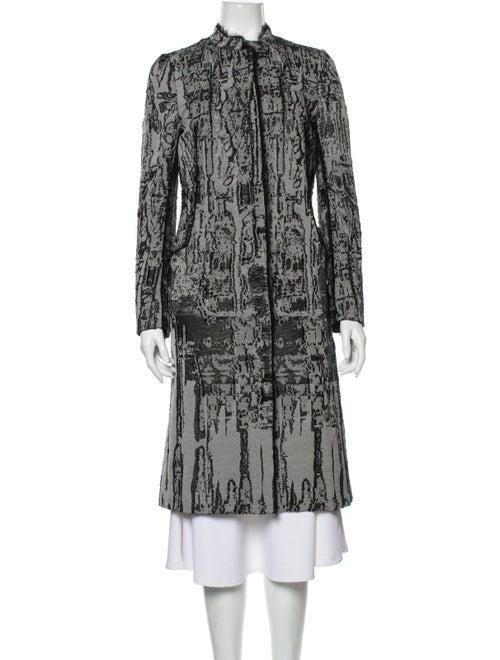 Bottega Veneta Printed Coat Grey