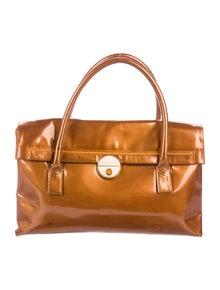 Bottega Veneta Vintage Patent Leather Shoulder Bag