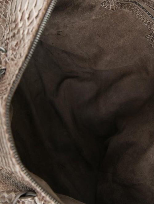 0f1dea288c Bottega Veneta Nero Waxed Python Bag - Handbags - BOT20250