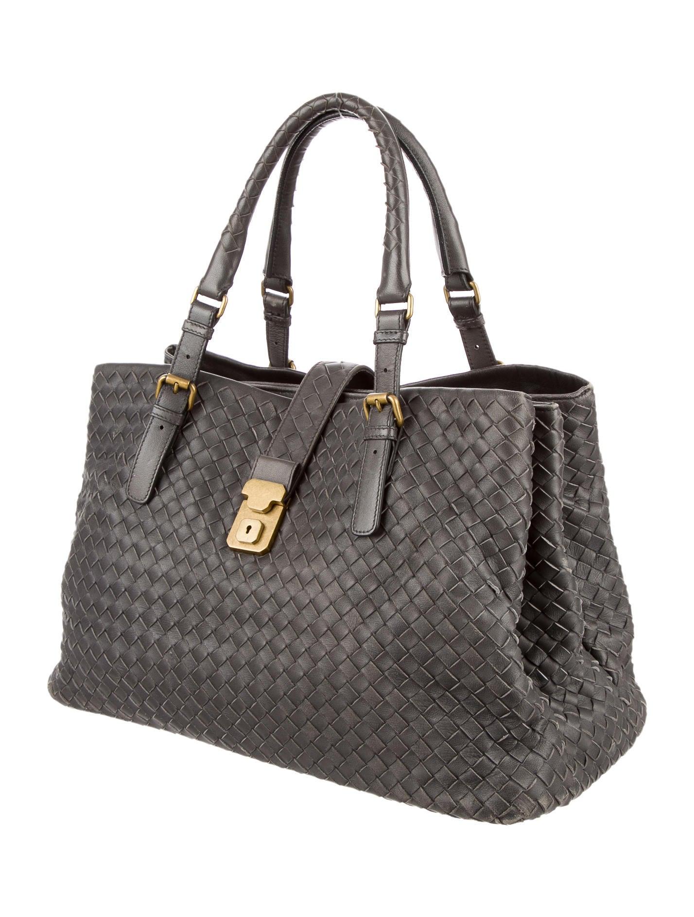 Bottega veneta intrecciato roma bag handbags bot31093 the realreal - Mobili bottega veneta ...