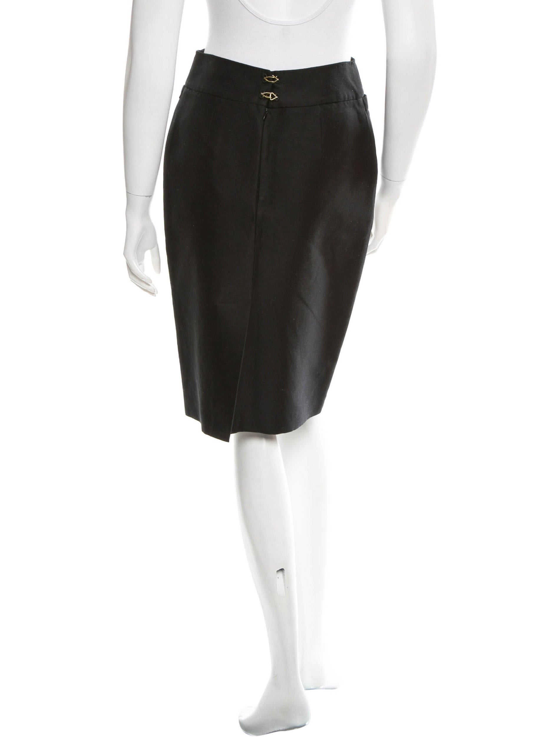 bottega veneta woven pencil skirt clothing bot31201
