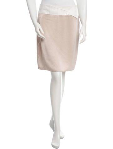 Bottega Veneta Satin Colorblock Skirt