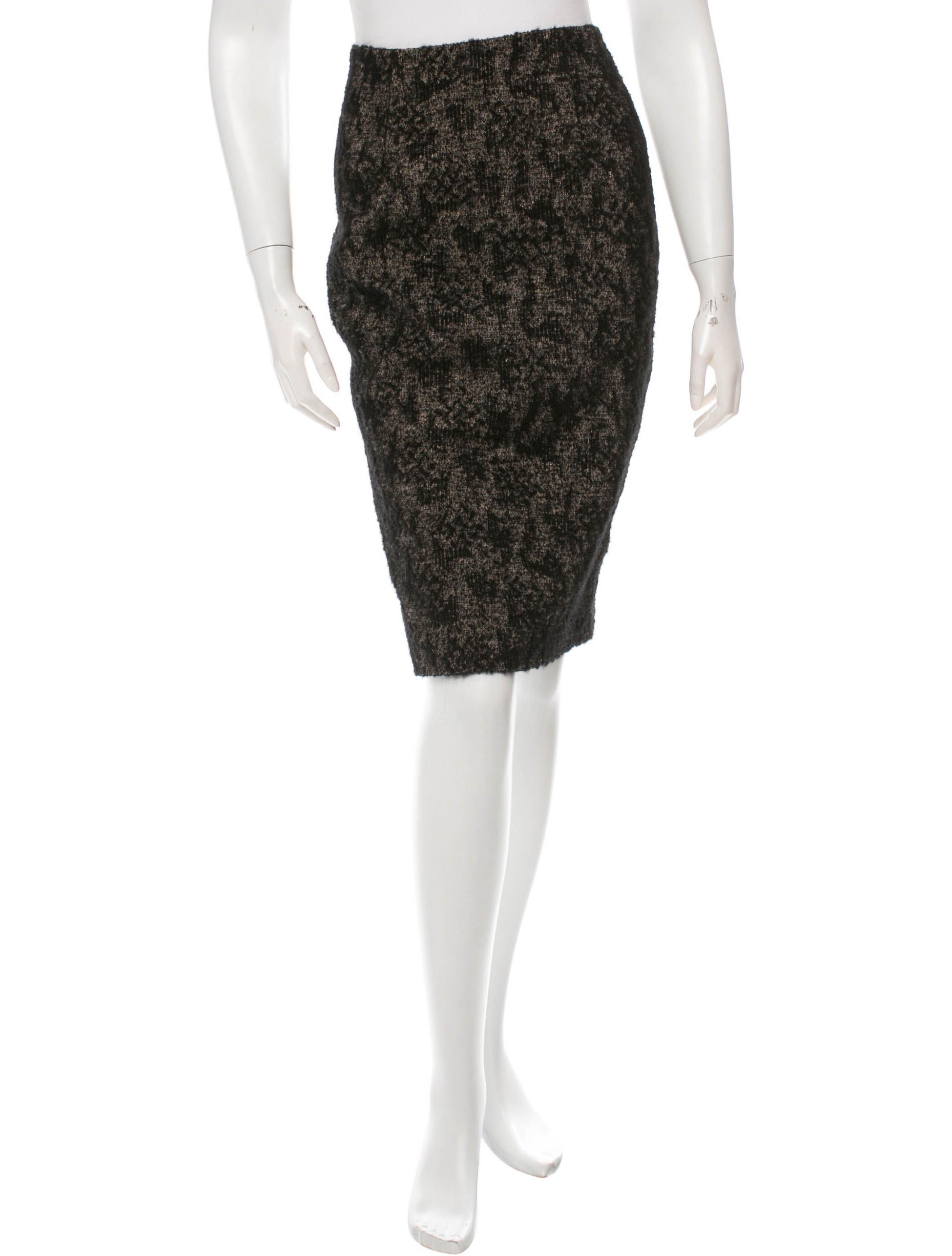 bottega veneta textured pencil skirt clothing bot33384