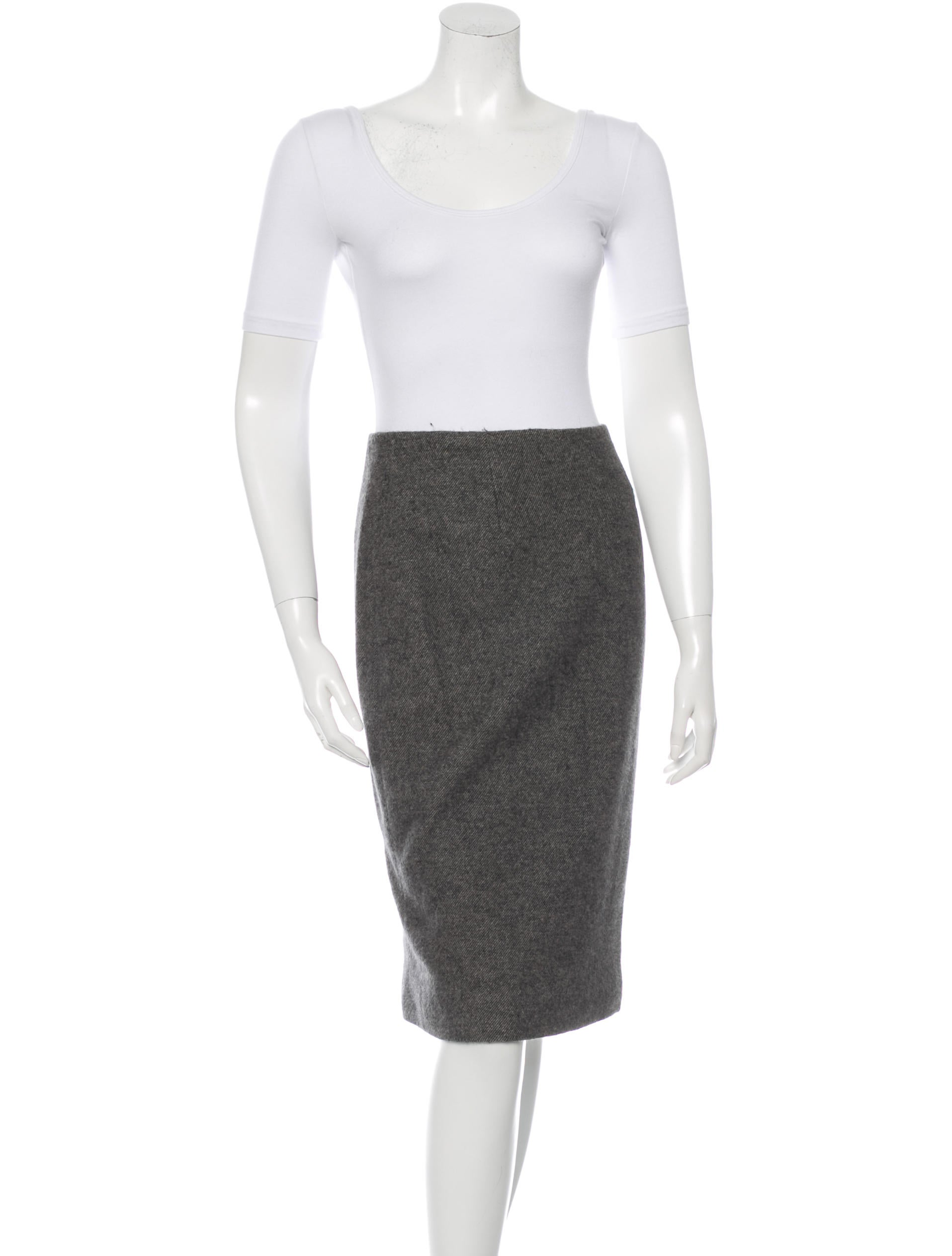 bottega veneta collarless pencil skirt suit clothing