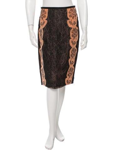 Bottega Veneta Embellished Mesh Skirt None