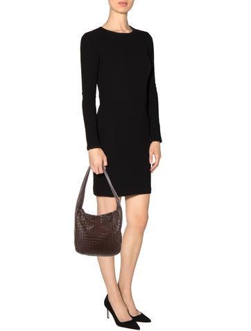 Intrecciato-Accented Shoulder Bag