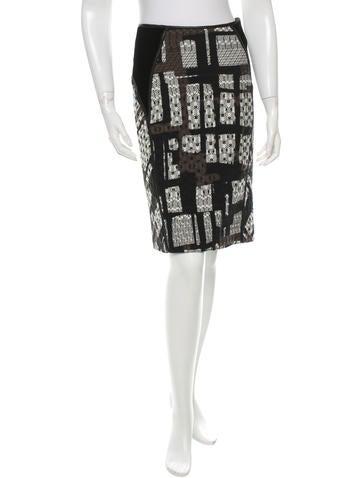 Bottega Veneta Leather-Trimmed Wool Skirt