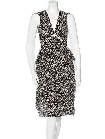 Bottega Veneta Cutout-Accented Silk Dress