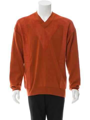 Bottega Veneta Cashmere Suede-Trimmed Sweater None