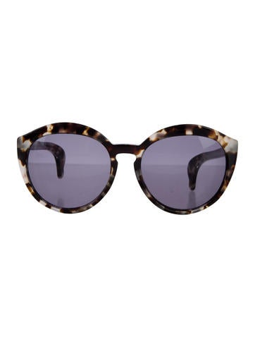 Marbled Cat-Eye Sunglasses