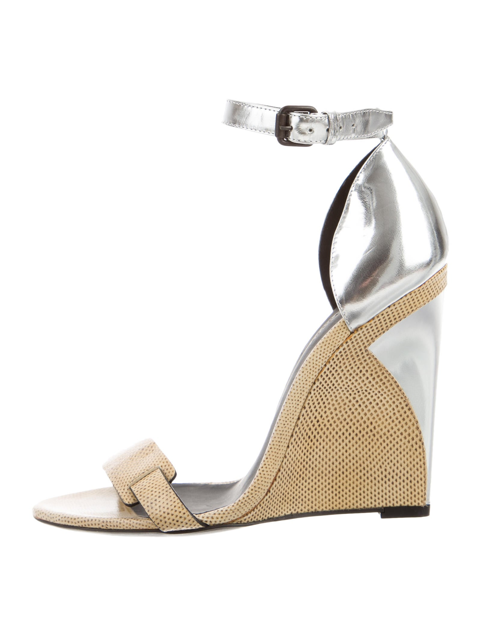 Bottega Veneta Embossed Ankle-Strap Wedges for cheap outlet authentic outlet amazon cheap pictures GKJ1Sng
