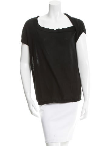 Bottega Veneta Twist-Accented Short Sleeve Top