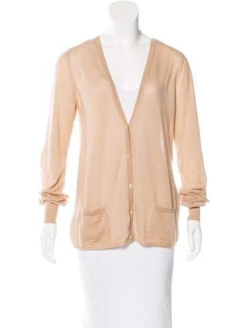 Bottega Veneta Long Sleeve V-Neck Cardigan None