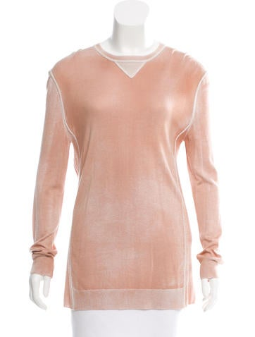 Bottega Veneta Cashmere & Silk-Blend Top None
