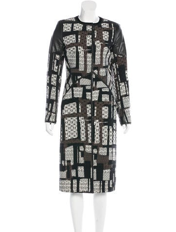 Bottega Veneta Wool Leather-Trimmed Coat