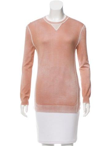 Bottega Veneta Silk & Cashmere-Blend Top None
