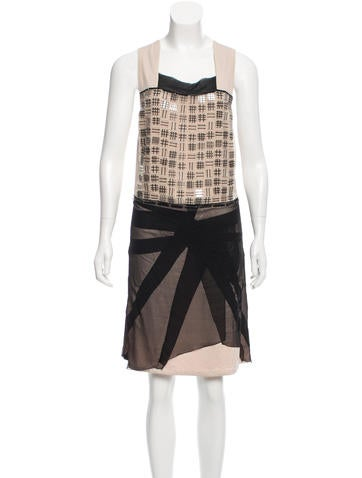 Bottega Veneta Bead-Embellished Silk Dress None