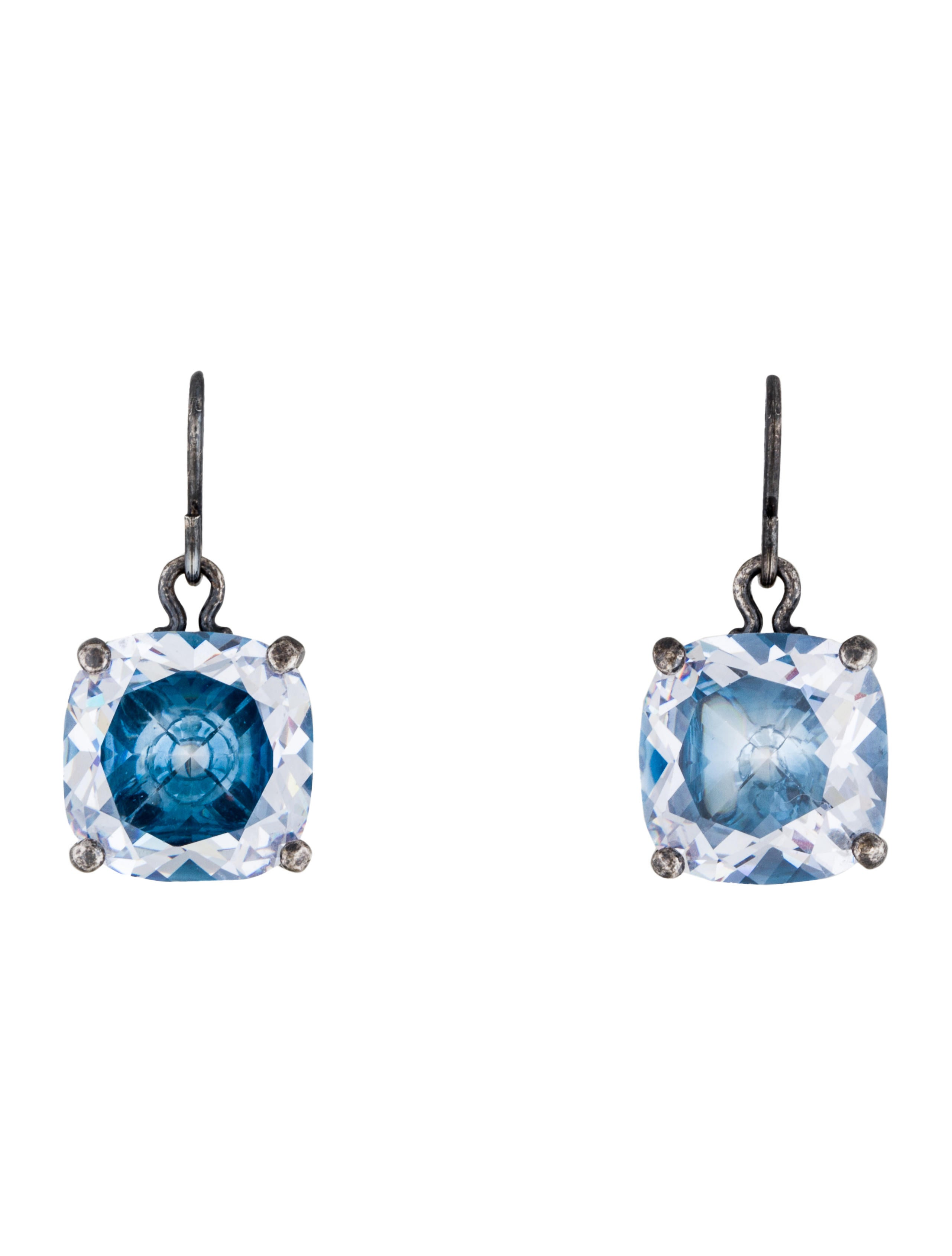 bottega veneta cubic zirconia drop earrings earrings