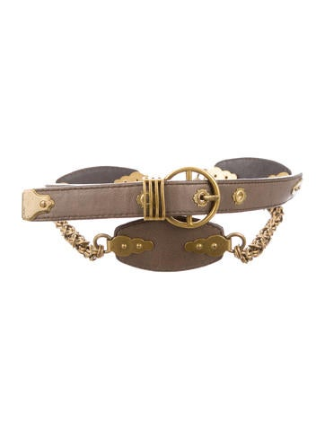Bottega Veneta Leather Chain-Link Belt