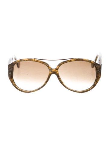 Bottega Veneta Intrecciato-Accented Marbled Sunglasses