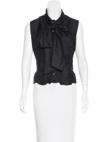 Bottega Veneta Sleeveless Button-Up Top None