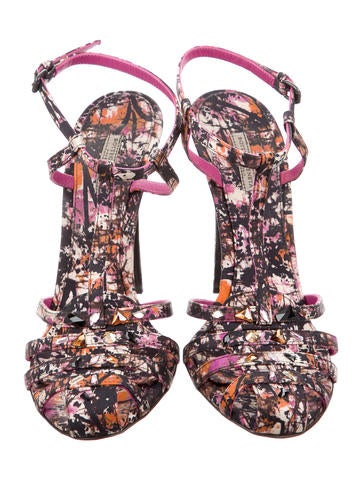 Satin Jewel-Embellished Sandals