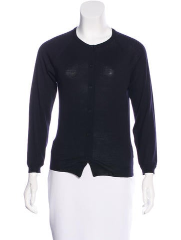 Bottega Veneta Wool Rib Knit Cardigan None