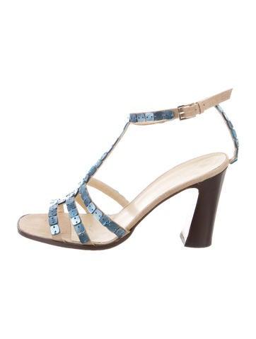 Bottega Veneta Embellished T-Strap Sandals