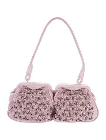 Bottega Veneta Embellished Suede Bag None