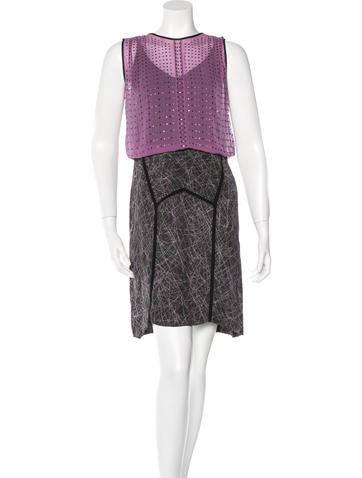 Bottega Veneta Embellished Silk Dress None