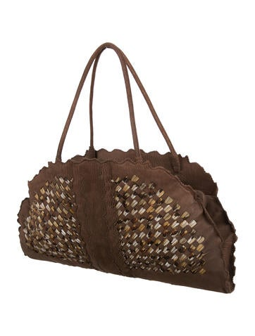 Intrecciato Feather Half Moon Bag
