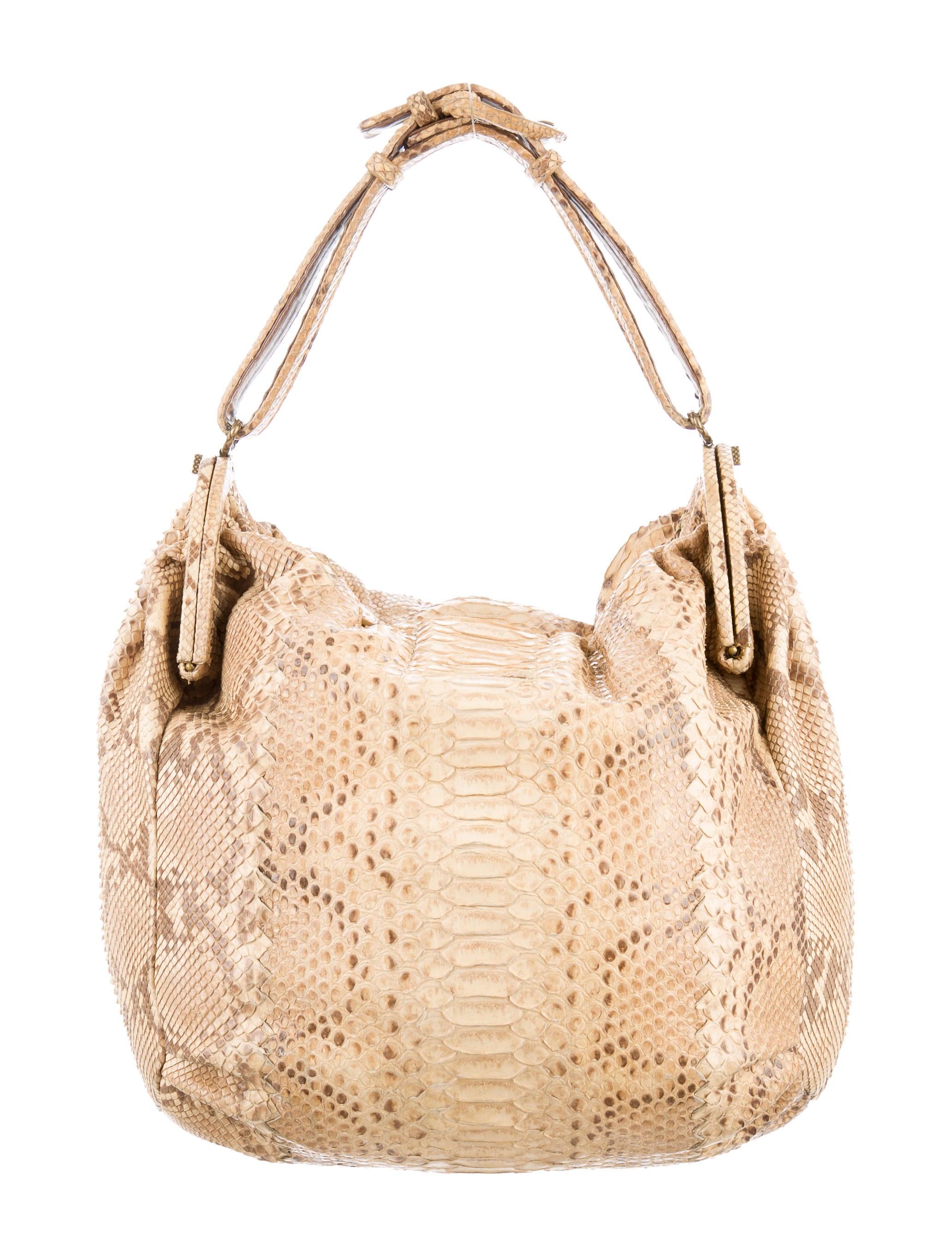 f7f34329897 Bottega Veneta Python Duette Bag - Handbags - BOT41590   The RealReal
